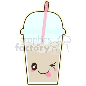 Latte cartoon character vector clip art image clipart. Royalty-free image # 395243