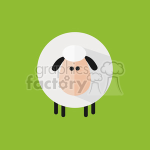 8215 Royalty Free RF Clipart Illustration Cute Sheep Modern Flat Design Vector Illustration clipart. Royalty-free image # 395365
