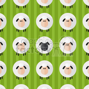 8235 Royalty Free RF Clipart Illustration Sheep Pattern Modern Flat Design Vector Illustration clipart. Commercial use image # 395375