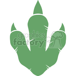 8774 Royalty Free RF Clipart Illustration Dinosaur Green Paw Print Vector Illustration Isolated On White Background clipart. Commercial use image # 395385