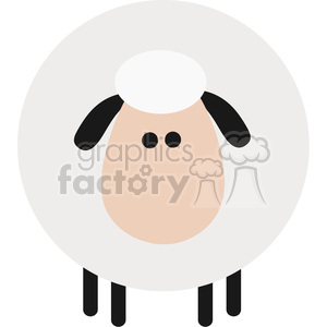 8213 Royalty Free RF Clipart Illustration Cute Sheep Modern Flat Design Vector Illustration clipart. Commercial use image # 395455