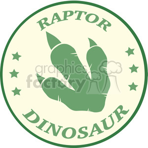 8780 Royalty Free RF Clipart Illustration Dinosaur Paw Print Green Vintage Logo Design Vector Illustration clipart. Royalty-free image # 395505