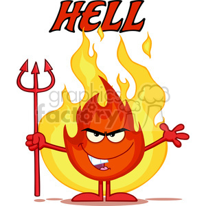cartoon funny comical silly fire hell