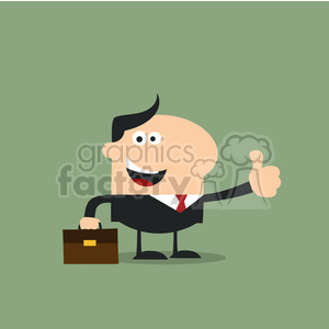 8258 Royalty Free RF Clipart Illustration Happy Manager Giving Thumb Up In Modern Flat Design Vector Illustration clipart. Commercial use image # 396046