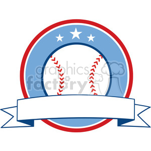 Baseball Ribbon Banner clipart. Royalty-free image # 396066