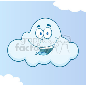 7021 Royalty Free RF Clipart Illustration Smiling Cloud Cartoon Mascot Character clipart. Royalty-free image # 396896
