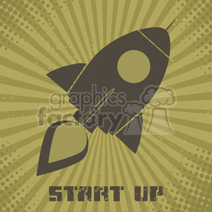 8320 Royalty Free RF Clipart Illustration Vintage Retro Rocket Ship Concept Vector Illustration With Text clipart. Royalty-free image # 397002