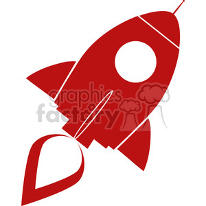 8307 Royalty Free RF Clipart Illustration Red Retro Rocket Ship Concept Vector Illustration clipart. Royalty-free image # 397022