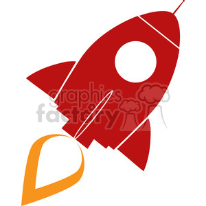 8309 Royalty Free RF Clipart Illustration Red Retro Rocket Ship Concept Vector Illustration clipart. Royalty-free image # 397042