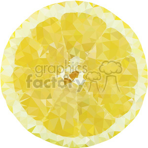 geometry polygons lemon fruit food yellow