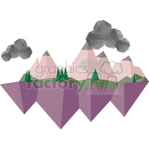Landscape geometry geometric polygon vector graphics