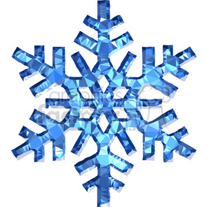 Snowflake geometry geometric polygon vector graphics RF clip art images clipart. Royalty-free image # 397365