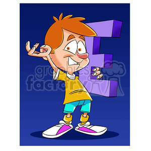 kid child boy cartoon letter