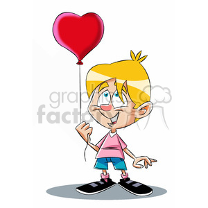 bryce the cartoon character holding heart balloon clipart. Royalty-free image # 397725