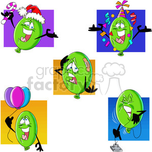 cartoon balloon vector image set clipart. Commercial use image # 397775