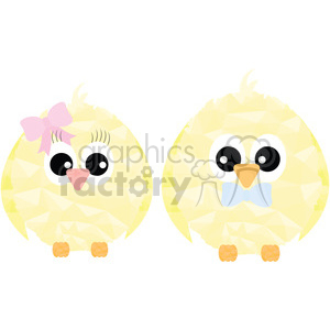 Chick pair clipart. Royalty-free image # 397963