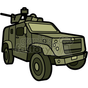 military armored M ATV vehicle clipart. Royalty-free image # 397983
