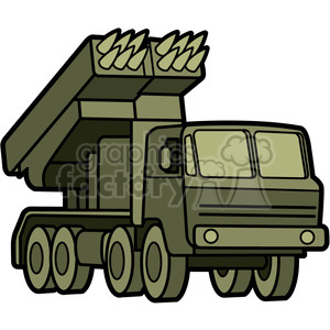 military armored mobile missle launch vehicle clipart. Commercial use image # 398003