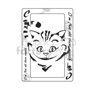 alice in wonderland cheshire cat playing card clipart. Royalty-free image # 398023