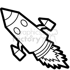 black white rocket illustration graphic clipart. Royalty-free image # 398043