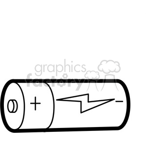 black white cartoon battery illustration graphic clipart. Royalty-free image # 398063