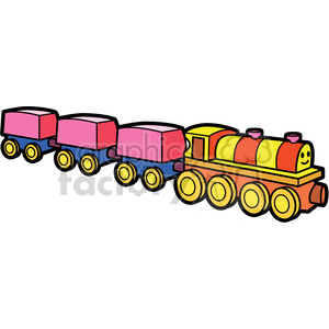toy train illustration graphic clipart. Royalty-free image # 398073