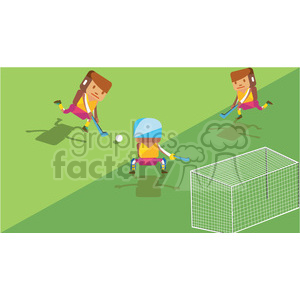 olympic field hockey characters illustration clipart. Royalty-free image # 398113