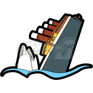 sinking ship from an iceberg clipart. Royalty-free image # 398123