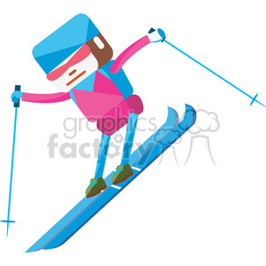 olympic alpine skier illustration clipart. Royalty-free image # 398133