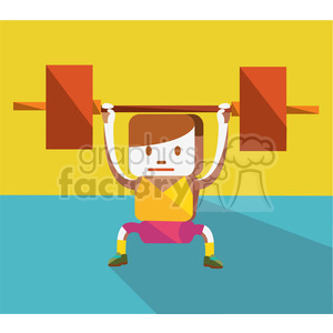 weightlifter icon illustration clipart. Royalty-free image # 398143