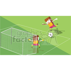 olympic soccer characters illustration clipart. Royalty-free image # 398153