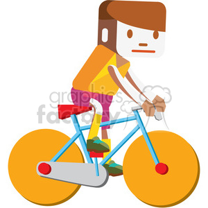 olympic cyclists illustration