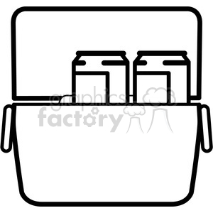 loaded cooler icon clipart. Royalty-free image # 398223