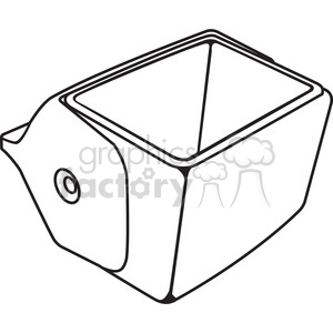 outline of an opened cooler clipart. Royalty-free image # 398243