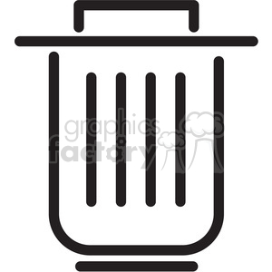 trash can icon clipart. Royalty-free image # 398318