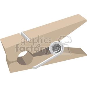 closepin cloth pin clipart. Royalty-free image # 398428