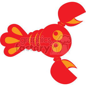 Red Lobster vector image RF clip art clipart. Commercial use image # 398455