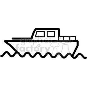 boat in water vector icon