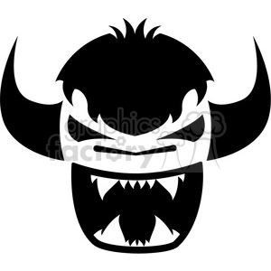 monster logo icon design black white clipart. Commercial use image # 398780