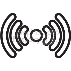 wireless signal vector icon clipart. Royalty-free image # 398817