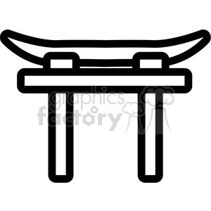 shinto torii symbol vector icon clipart. Commercial use icon # 398824