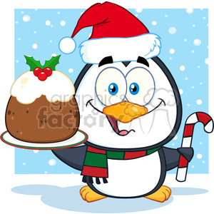 christmas xmas holidays cartoon penguin cake