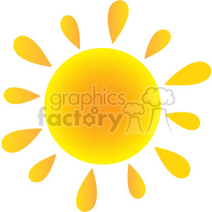 royalty free rf clipart illustration abstract sun in gradient vector illustration isolated on white background clipart. Royalty-free image # 399318