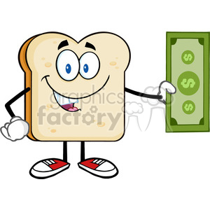 fitness health healthy exercise cartoon character bread food toast breakfast money