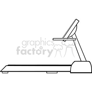 royalty free rf clipart illustration black and white cartoon illustration of empty treadmill vector illustration with text isolated on white clipart. Royalty-free image # 399672
