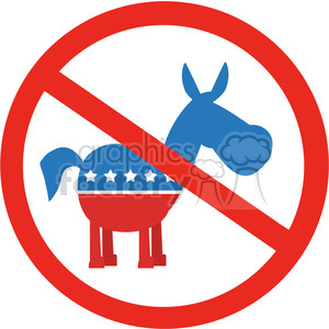 stop democrats circale label vector illustration flat design style isolated on white clipart. Commercial use image # 399802