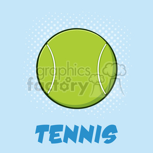 tennis ball cartoon vector illustration poster with text and background