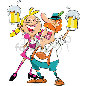 oktoberfest festival people drinking beer clipart. Commercial use image # 400298