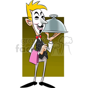 vector clipart image of anonymous waiter clipart. Royalty-free image # 400308
