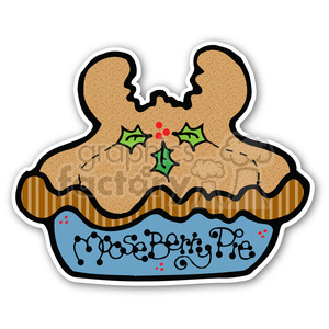 christmas cartoon holidays holiday stickers moose pie berry